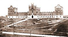 Hospital-Asilo para niños escrofulosos de San Rafael. Fachada principal, con la futura Avda. de la Habana, abajo.(1909)