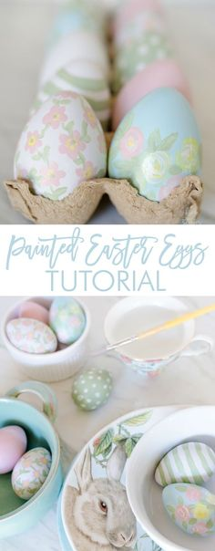 Beautiful and Simple Painted Easter Eggs using Waverly Inspirations at Walmart acrylic paint -ad