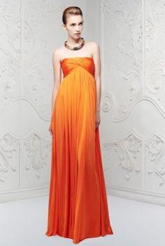Abito arancione Alexander McQueen