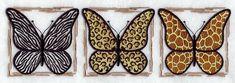 animal print butterflies