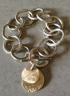 silver/brass bracelet :