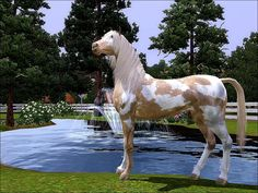Photos of The Sims 3 Pets horses | Sims 3 Pets Paint Horse by ~huntinlabs on deviantART