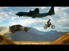 Rallying and stunt-driving legend Ken Block joins James May on a rather quiet airfield in California. Quiet that is until he turns the airfield into a playground and shows off his Sabaru-sliding skills against dirt-biking champion Ricky Carmichael!     Subscribe to see all the reviews, races and challenges: http://bit.ly/ymYlZc    Top Gear YouTube c...
