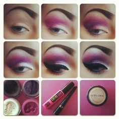 Eye Makeup Tips.Smokey Eye Makeup Tips - For a Catchy and Impressive Look Dramatic Wedding Makeup, Dramatic Eye Makeup, Purple Eye Makeup, Eye Makeup Steps, Colorful Eye Makeup, Dramatic Eyes, Natural Eye Makeup, Smokey Eye Makeup, Love Makeup