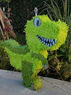 T-Rex Dinosaur Dino Pinata on Etsy Godzilla Birthday Party, Birthday Pinata, Park Birthday, First Birthday Party Themes, Dinosaur Birthday Party, 1st Boy Birthday, Dinasour Party, Kids Art Party, Cardboard Crafts Kids