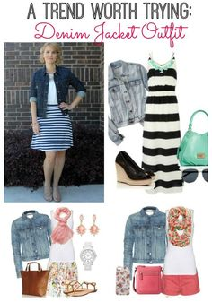 Looking for a denim jacket outfit? This one is perfect for a lunch meeting, work, running errands or a casual date night.