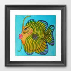 CURLY Framed Art Print by Caribbean Critters Co. - $32.00
