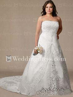 Princess Satin Plus Size Bridal Gown with Lace PS110. Vestidos De Novia ... b4b4e8c7206