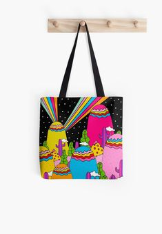 Night Sky Rainbow Tote Bag  #redbubble #totebag #rainbow #bags #accessory #colorful #style