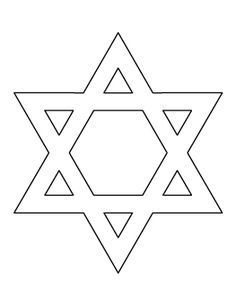 Star of David Pattern www.patternuniverse.com