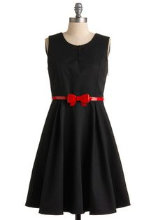 LBD with a cute touch of red for the holidays!