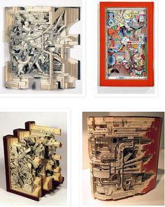 Esculturas en libros