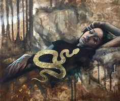 """""""Golden Serpent"""" [Oil and gold leaf on canvas 50x60 cm Model: @vanillablood] by @nickmorte . . SUBMISSION SUNDAY Tag us on Instagram #beautifulbizarre to 'Join the Tribe' and each Sunday our Editor-in-Chief @danijelakrha will choose her favourites from across all our key content areas: art culture couture and share them with our 800000 social media followers!  via BEAUTIFUL BIZARRE MAGAZINE OFFICIAL INSTAGRAM - Celebrity  Fashion  Haute Couture  Advertising  Culture  Beauty  Editorial…"""