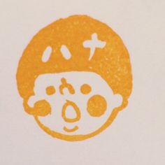 Akiran様オーダー品☆似顔絵お名前はんこ持ち手素材:檜(約4×3cm) 消しゴムはんこです。 試し捺し、持ち手への捺印のため初めから多少のイ...|ハンドメイド、手作り、手仕事品の通販・販売・購入ならCreema。