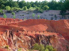 Gánt - egykori bauxitbánya területe