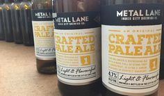 New place tip of the week goes out to Metal Lane Brewery! This unique micro-brewery holds the title of The Mother City's only CBD based brewery and serves up some crafty Pale Ale that certainly makes life more beerable! Beer Snob, Served Up, Cape Town, Craft Beer, Brewery, Whiskey Bottle, Ale, Crafty, Metal