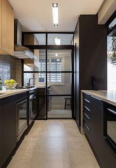 Industrial Kitchen Design, Kitchen Room Design, Modern Kitchen Design, Home Decor Kitchen, Kitchen Furniture, Kitchen Interior, Interior Design Layout, Home Design Decor, House Design