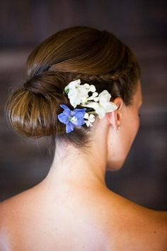 www.weddbook.com everything about wedding ♥ Braided Side Updo Wedding Hairstyle with Fresh Flowers #weddbook #wedding #hair