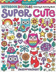 Amazon Notebook Doodles Super Cute Coloring Activity Book 0023863056748