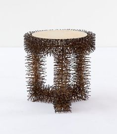 Spiky... Stool by German artist Sven Herrmann-Padditz.
