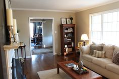 Eddie Bauer Wicker - Valspar paint....this is the color we used throughout our home! I love it!!