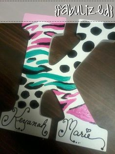 Hand painted wooden letters! Great for a kid's bedroom - baby shower - or gift! $15 each