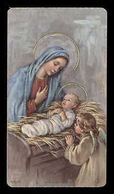 """santino-holy card""""""""ediz. FB serie V.X.  n.46 ADORAZIONE DI MARIA"""
