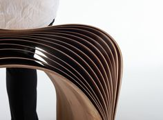 hangzhou bent bamboo stool by min chen