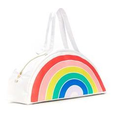 super chill cooler bag - rainbow - side