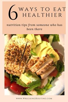 Get help with eating healthier. 6 tips and tricks to getting healthy meals into your daily life. #healthymeal #eathealthy #wreckingroutine Ways To Eat Healthy, Healthy Meals To Cook, Healthy Diet Plans, Healthy Nutrition, Nutrition Tips, How To Stay Healthy, Healthy Eating, Healthy Recipes, Cucumber Recipes