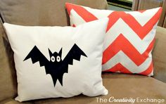 DIY Fall Pillows using Screen Print Paint {The Creativity Exchange}