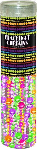 """Black Light """"Mardi Gras"""" Door Beads"""