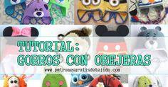 Aprende a tejer gorros infantiles con orejeras ~ Patrones para Crochet