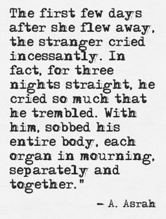 Like Sarah to Stranger #love #heartbreak #truelove A. Asrah