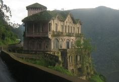 The Hotel del Salto in Columbia has trees growing through its once-grand rooms. It opened in 1928 to welcome wealthy travelers visiting Tequendama Falls but it closed down in the early nineties.