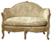 Sweatheart Table! Louis XV Style Loveseat with Blanc de Plomb Finish