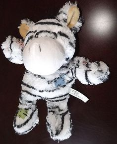 New Dog Toy Tugger S/M Dog Puppy Squeaky Chew Tug Toy Zebra