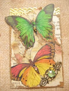 Vintage ATC with a Butterfly | Flickr - Photo Sharing!