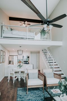 Projects — Lot 35 Homes A small condo feels open and airy with neutral colors and coastal accents Tiny Beach House, Small Beach Houses, Condo Living, Tiny House Living, Living Room, Lofts, Loft Design, House Design, Small Condo Decorating