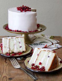 Thoroughly delicious looking Pomegranate Cake. #pomegranate #cake