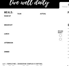 This planner was created as a tool to help individuals completing doTERRA's 30 Day Cleanse as it lists the supplements used in each correspondingphase. The Daily Health Planner can also be used independentlyfor a general cleanse, detox, or other health ...
