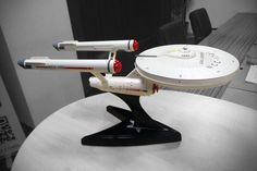 Beyond awesome: StarTrek enthusiasts transplanted a WiFi router into a model of the USS Enterprise.