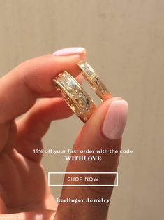Customize your matching wedding rings with Berlinger Jewelry. 15% off your first order with the code WITHLOVE Matching Wedding Rings, Gold Wedding Rings, Wedding Matches, Wedding Ring Bands, Wedding Jewelry, Matching Couples, Wedding Accessories, Unique Rings, Beautiful Rings