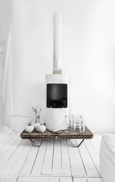When you feel you need simple style where is soul in... I painted this my (black) Bio Ethanol Fireplace by l'Authentique Chal...