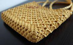 BagMacrameWeaving Basket RopeHandmadeMustard color by CraftingMode