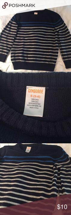 Boys Gymboree sweater Navy with blue and gray stripes boys sweater. Like new. Worn once. EUC. Gymboree Shirts & Tops Sweaters
