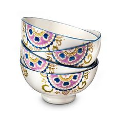 Boho Boutique Rosana Bowl - Set of , Multi-Colored (€26) ❤ liked on Polyvore featuring home, kitchen & dining and serveware