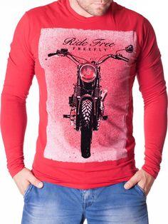 Bluza barbati Ride Free rosie Graphic Sweatshirt, Interior Design, Sweatshirts, Sweaters, Free, Fashion, Nest Design, Moda, Home Interior Design