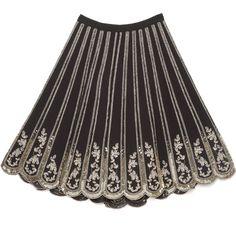 bebe Embellished Scalloped Skirt ($169) ❤ liked on Polyvore featuring skirts, scalloped skirt, bebe skirts, bebe and embellished skirt