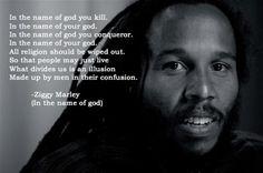 Ziggy Marley, atheist? Either way, love the lyrics!